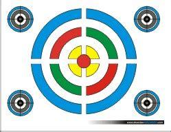 printable nfaa targets printable targets dewclaw archery