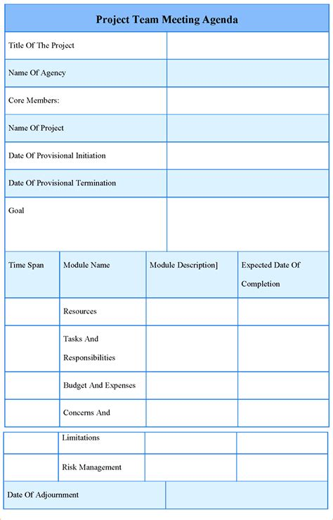 Best Meeting Agenda Template Mughals Business Templates