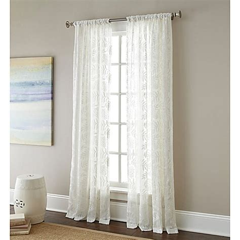 63 window curtains buy leaves 63 inch rod pocket embroidered sheer window