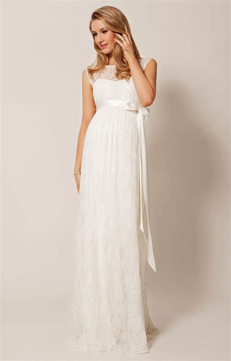 Wedding Dress Clothing by Ellie Maternity Wedding Gown Ivory Maternity
