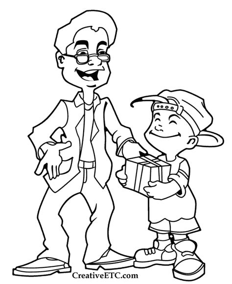 father s day coloring pages father and son