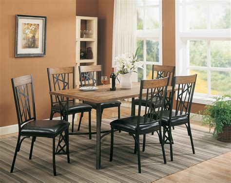 coaster furniture black 7 dining set table 6 side
