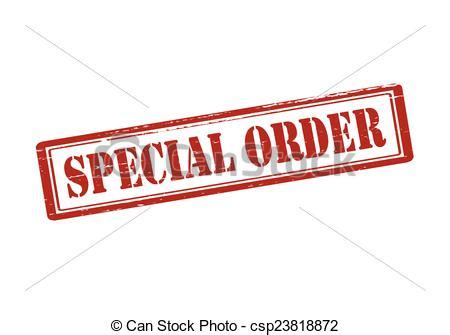 Special Order special order rubber st with text special order inside