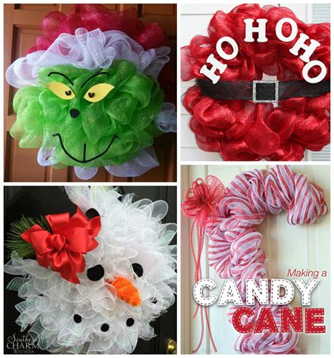 fun christmas deco mesh wreath ideas crafty morning