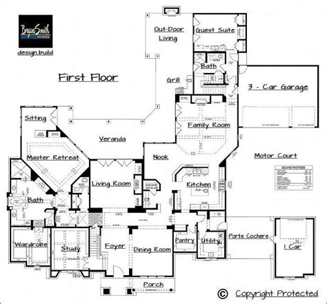 great layout with a motor court floor plans