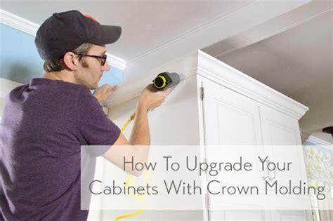 how to add crown molding to the top of your cabinets how to add crown molding to the top of your cabinets