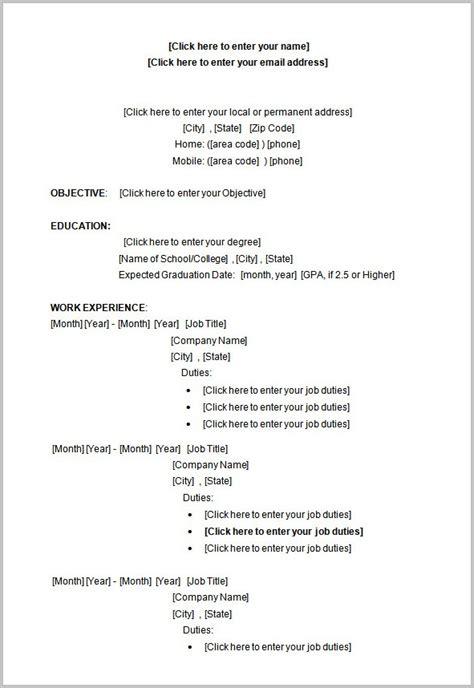 Free Resume Templates Students No Experience free resume templates students no experience resume resume exles qwl9bmepjk