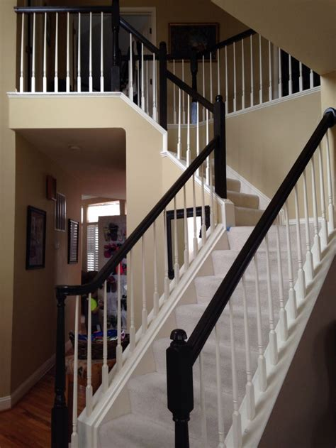 behr bone white on the spindles behr paint and primer in semi gloss espresso frog made