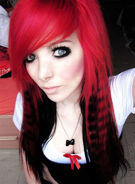hairstyles for selfies sexy emo wedding hairstyles red and black color scene
