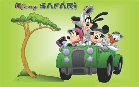 mickey  minnie mouse donald duck goofy safari cartoon wallpaper hd  wallpaperscom