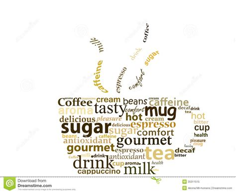cup made with words stock illustration illustration of