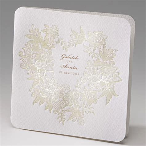 Hochzeitseinladungen Exklusiv by Hochzeitseinladung Quot Quot Mit Gr 252 Nen Ranken Und Blumen