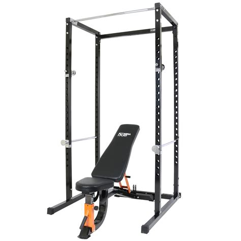 weight bench with pull up bar mirafit power cage squat rack pull up bar with semi commerical weight bench ebay