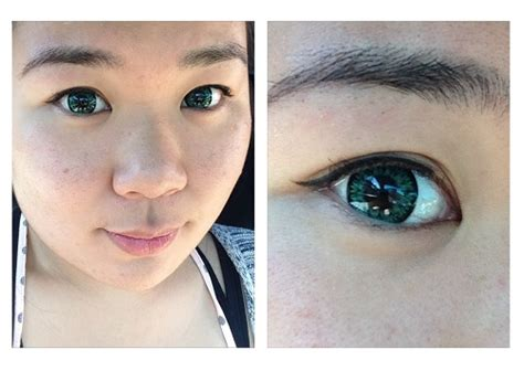 asian with colored spookyeyes coloured contacts review curiously