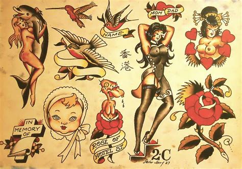 sailor jerry pin up tattoos sailor jerry flash tattoos