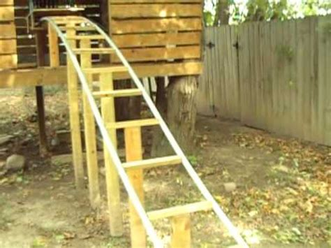 diy backyard roller coaster backyard homemade pvc roller coaster thrillium