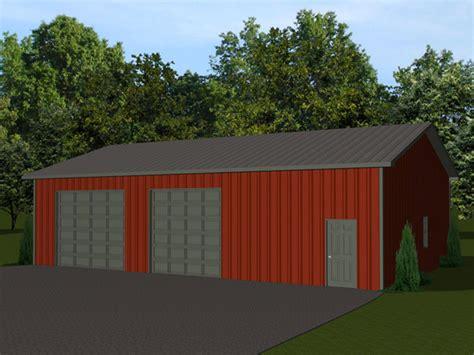 48 X32 Barn Plan With 2 Overhead Garage Doors Pole Pole Barn Garage Doors