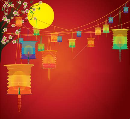 Free Download Lantern Festival Powerpoint Backgrounds Mid Autumn Festival Powerpoint