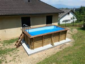piscine rectangulaire bois infos sur piscine bois hors sol rectangulaire arts et
