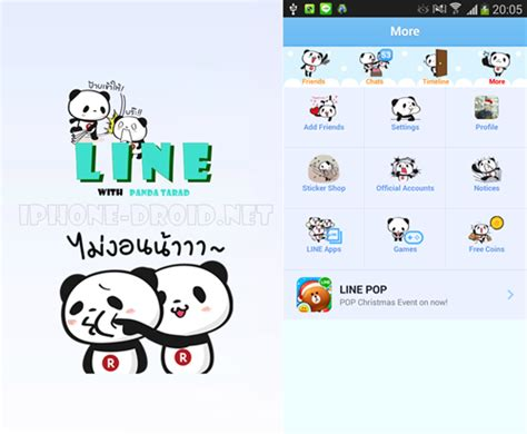 themes for line iphone theme line panda tarad iphone droid