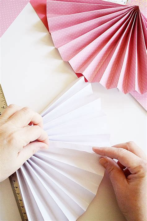 How To Make A Paper Fan That Works - simple diy paper fan decor for s day storypiece