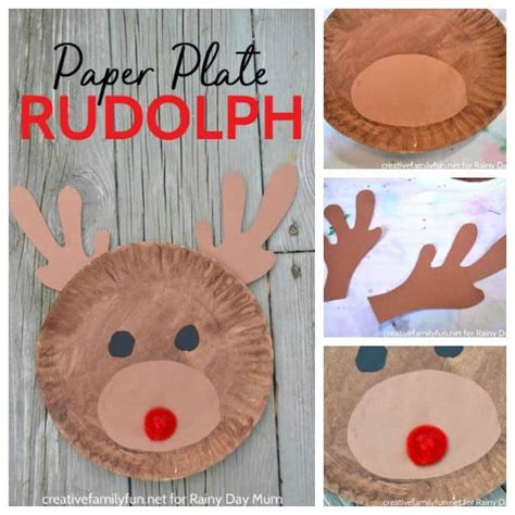 yoddler rudolph crafts paper plate rudolph for to make this