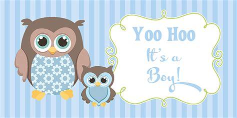 Owl Baby Boy Shower Ideas by Owl Boy Baby Shower Banner