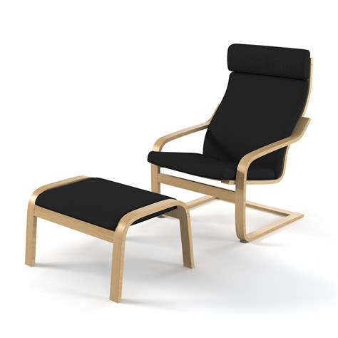 chair with footrest ikea 3d model ikea poeng chair