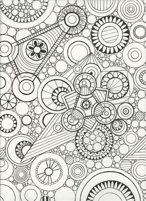 printable zen art original hand drawnzen doodle artadult coloring pagewall