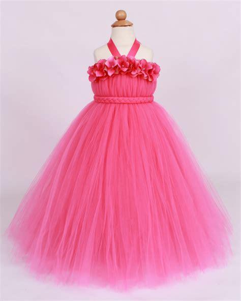 Dress Pink Tutu Flower flower tutu dress pink tickled by cutiepatootiedesignz