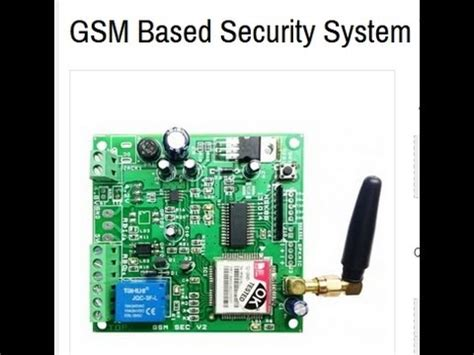 gsm based advanced home security system doovi