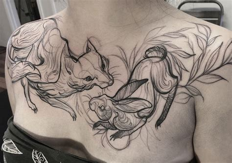 sketch tattoo style creative ideas tatto look like pencil drawings