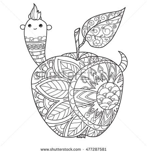 apple coloring pages for adults honey tea pot apple doodle cups stock vector 494356501