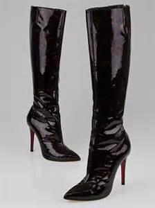 pretty boots christian louboutin tortoise shell patent leather pretty