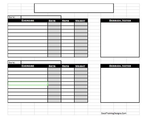 personal workout template free personal excel workout log 1 pictures to pin