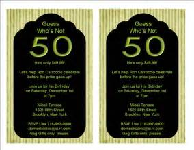 50th birthday invitation ideas new ideas