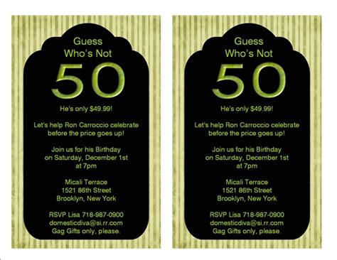 50 birthday invitation templates 50th birthday invitation ideas new ideas