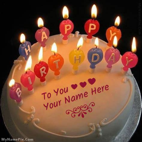 Find By Name And Birthday Candles Happy Birthday Cake Name Pictures Search Results