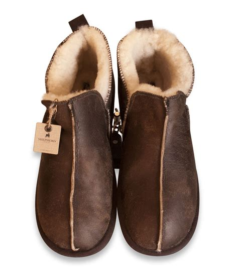 mens sheep skin boots shepherd mens genuine sheepskin slippers boots shoes