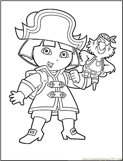 dora coloring page online coloring pages dora the pirate cartoons gt dora the