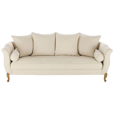 cotton sofas 3 seater cotton sofa bench louise maisons du monde
