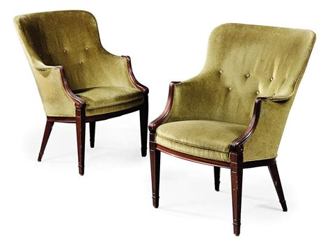 1930s armchair a pair frits henningsen upholstered side chairs 1930s
