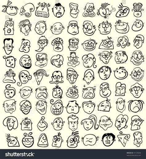 doodle expression faces doodle expressions and emotions