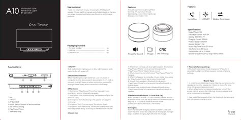 The Manual Of Speaking kdt a10 bluetooth speaker user manual shenzhen king bei qi electronic co ltd
