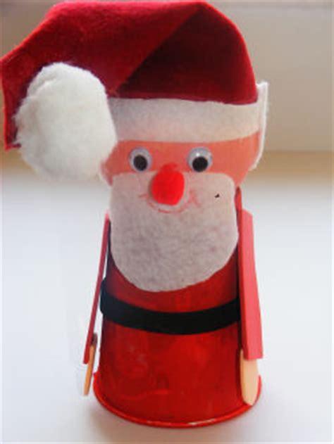 santa made from styrofoam cup cup and santa craft