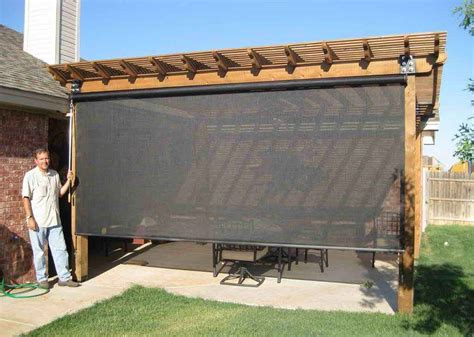 outdoor awnings and shades lowes outdoor blinds and shades