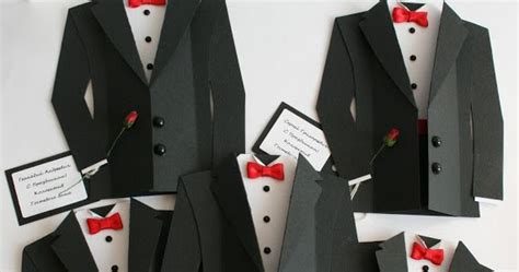 diy tuxedo cards  invitations  template