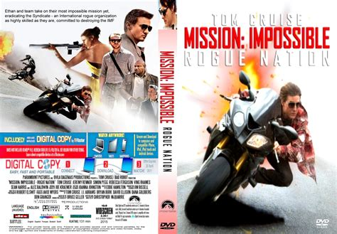 Nation Search Mission Impossible Rogue Nation Dvd Cover Label 2015 R1 Custom