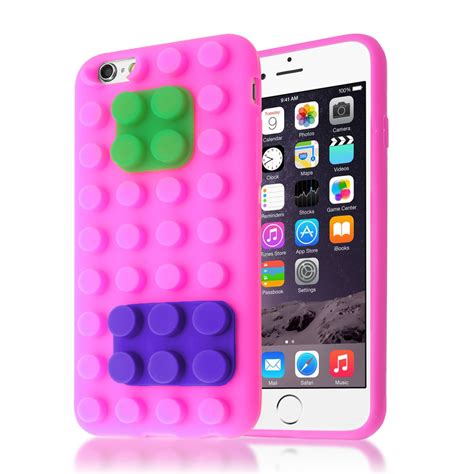 3d Building Blocks Brick Style Soft Silicone Iphone 6 Black 3d building lego blocks brick soft silicone stand cover for iphone 6s 6 ebay
