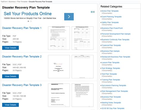 Disaster Recovery Plan Templates Disaster Recovery Plan Template For Small Business
